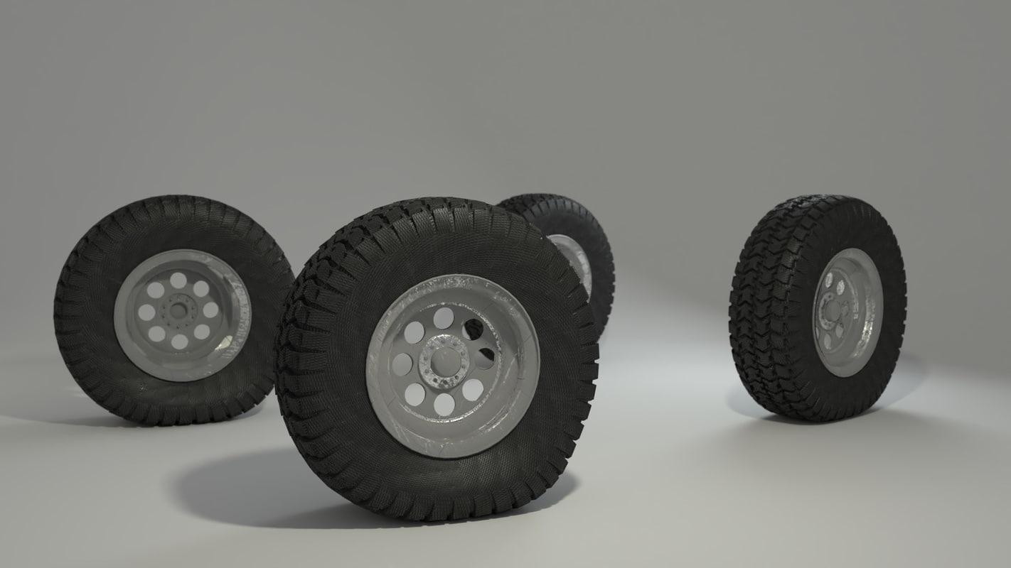 wheels rig 3D model