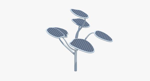 3D solar tree model