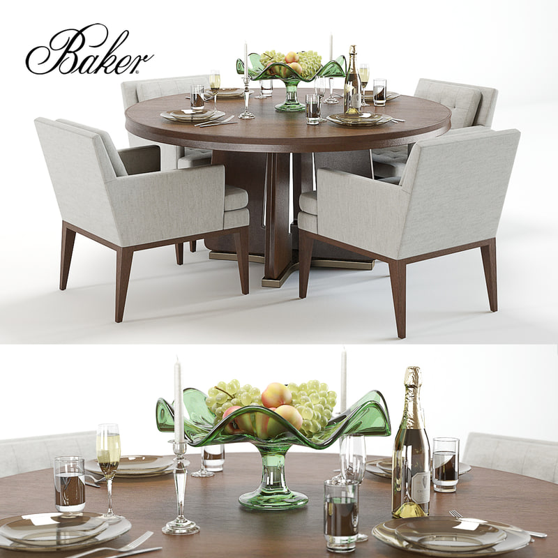 Set bakers ceremony dining table 3D model - TurboSquid 1239075