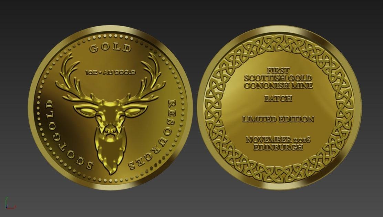 gold coins 3D model