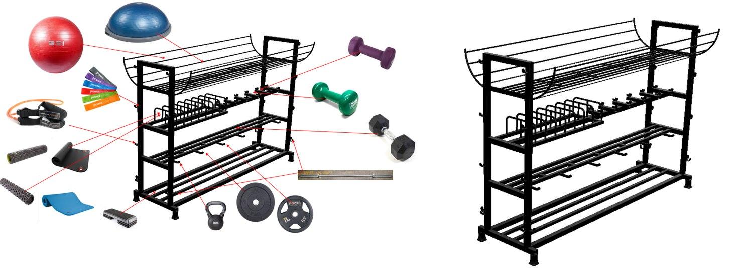 gym equipment storage rack model