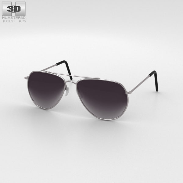 police sunglasses sun 3D model