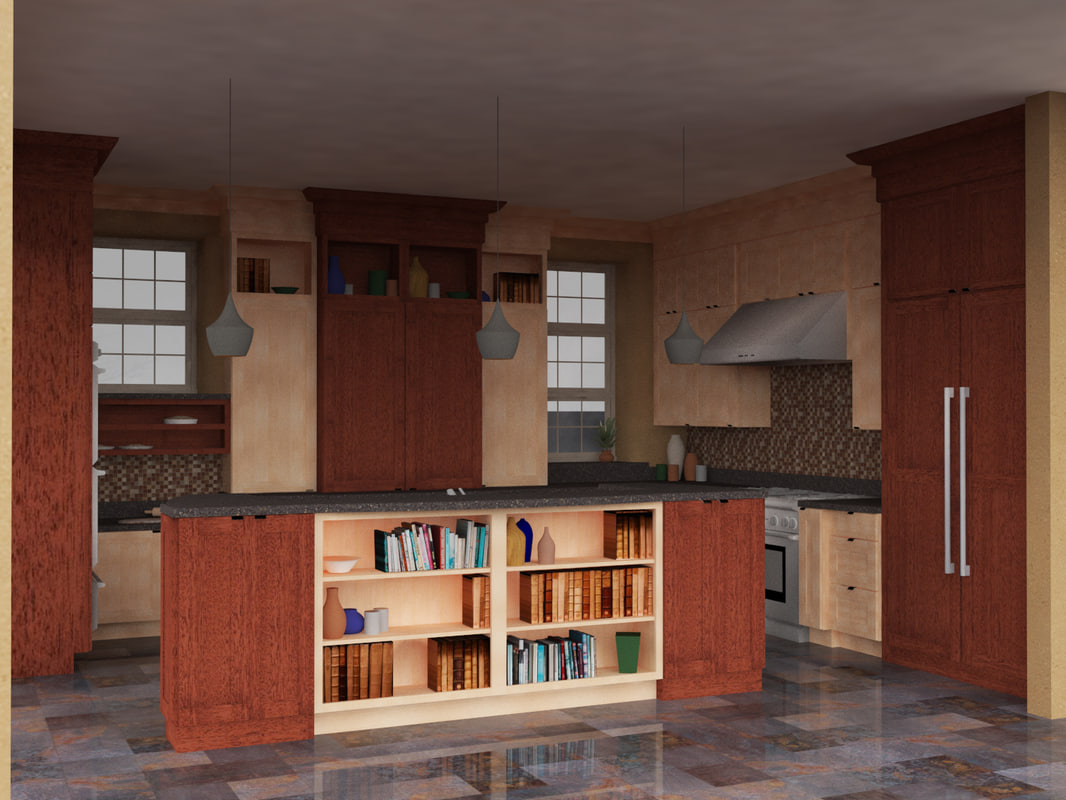 3D kitchen scene model