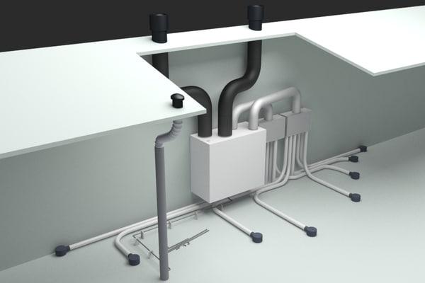 home ventilation unit 3D model