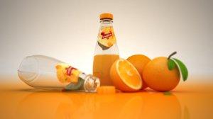fruit juice orange 3D model