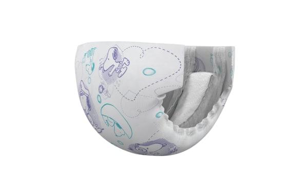 3D model skirt baby diaper