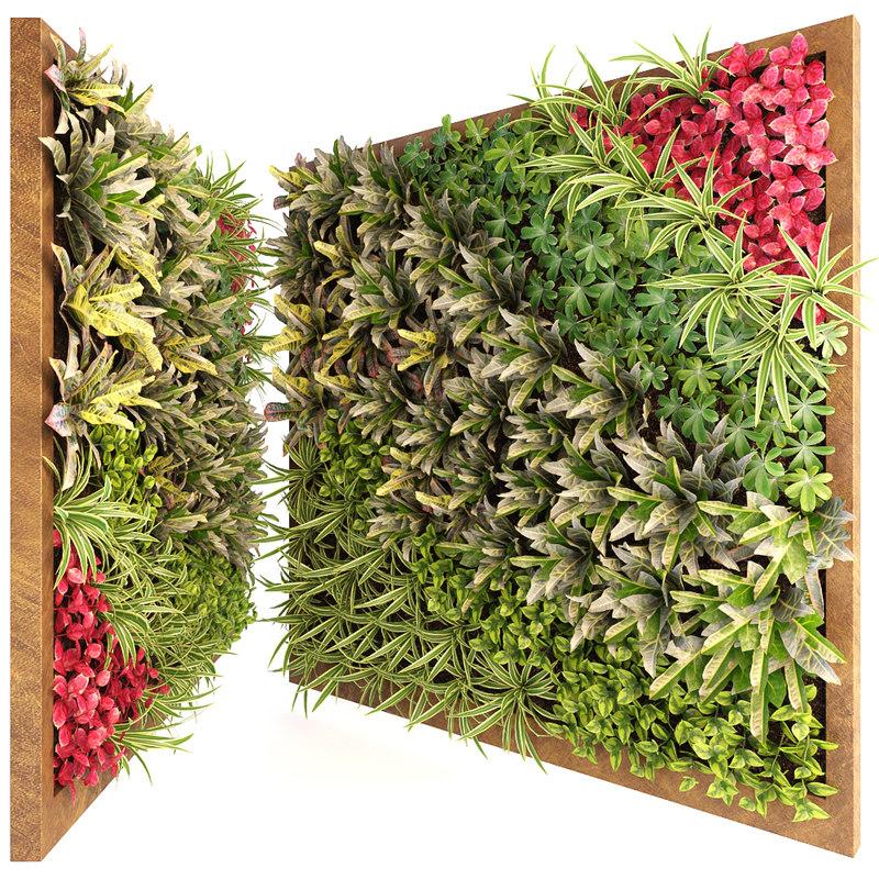 green wall 3D model
