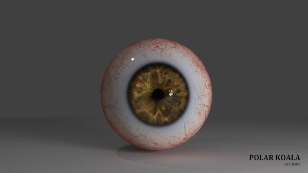 3D occhio umano fotorealistico model