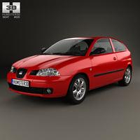 seat ibiza 2002 3D model