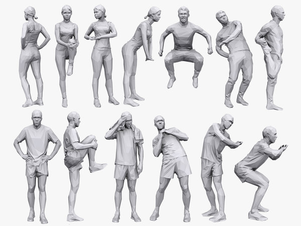 3D people fitness pack