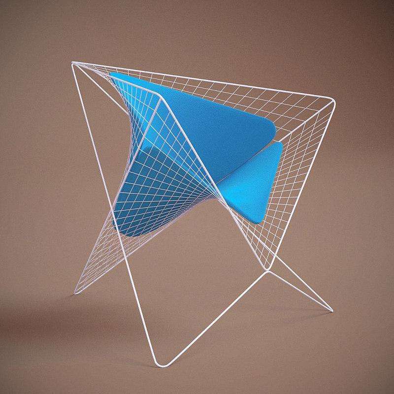 parabola chair 3D model