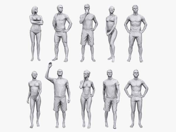 3D people vacation pack model