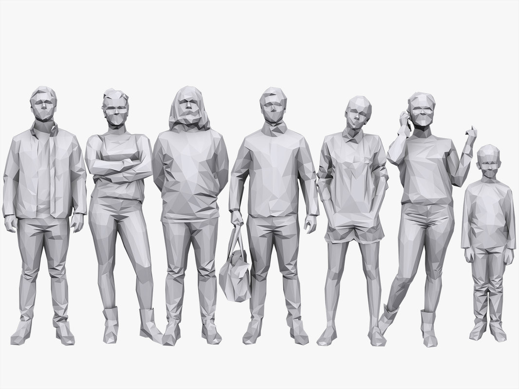 people casual pack volume 3D