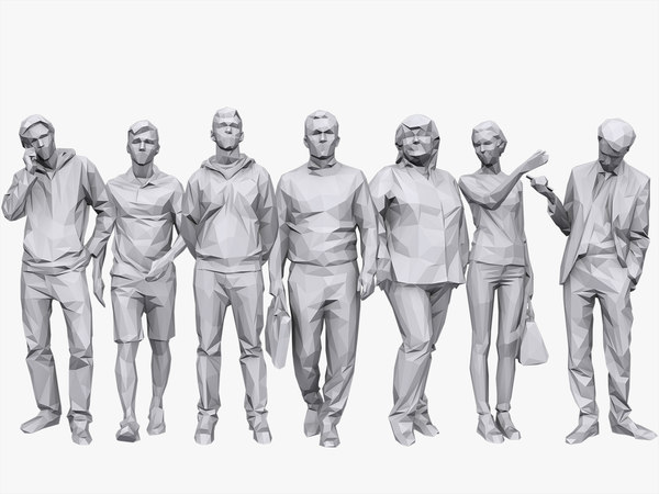 3D model people casual pack volume