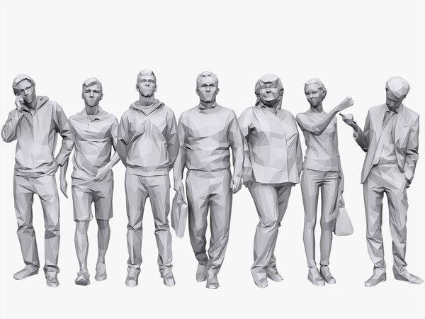 3D model people casual pack volume