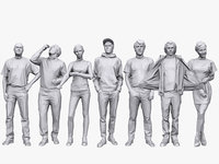 3D people casual pack volume