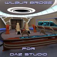 3D bridge daz studio scene
