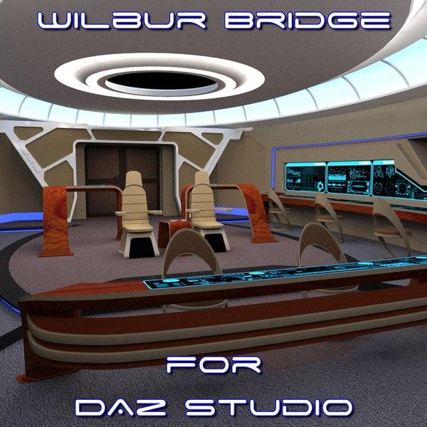3D bridge daz studio scene