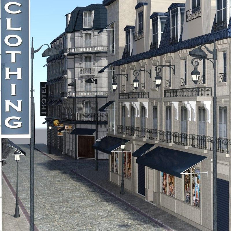 cities street daz studio model