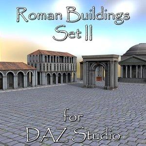 set roman buildings daz 3D model