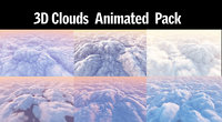 3D clouds pack model
