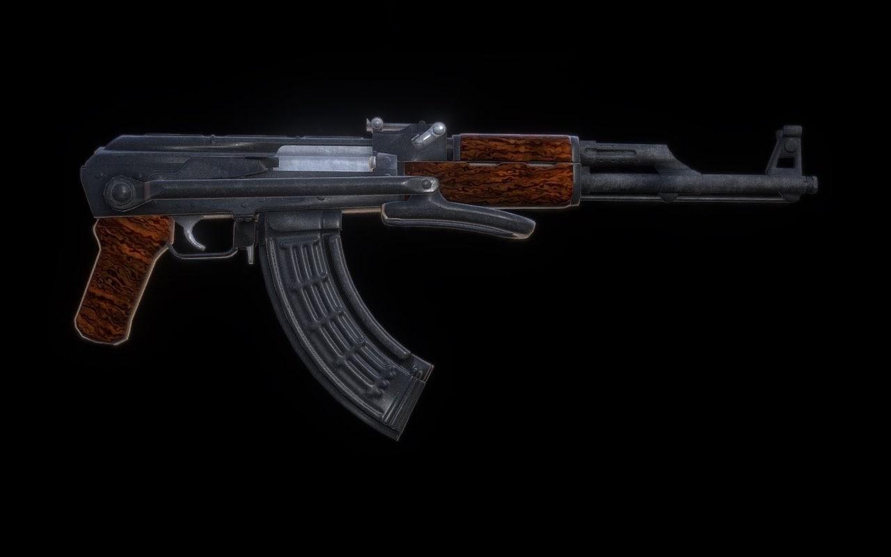 3D ak-47 ready