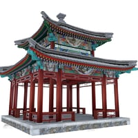 ancient square pavilion 3D model