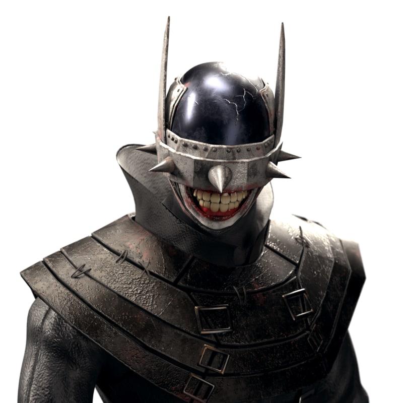 3D batman laughs gaming model