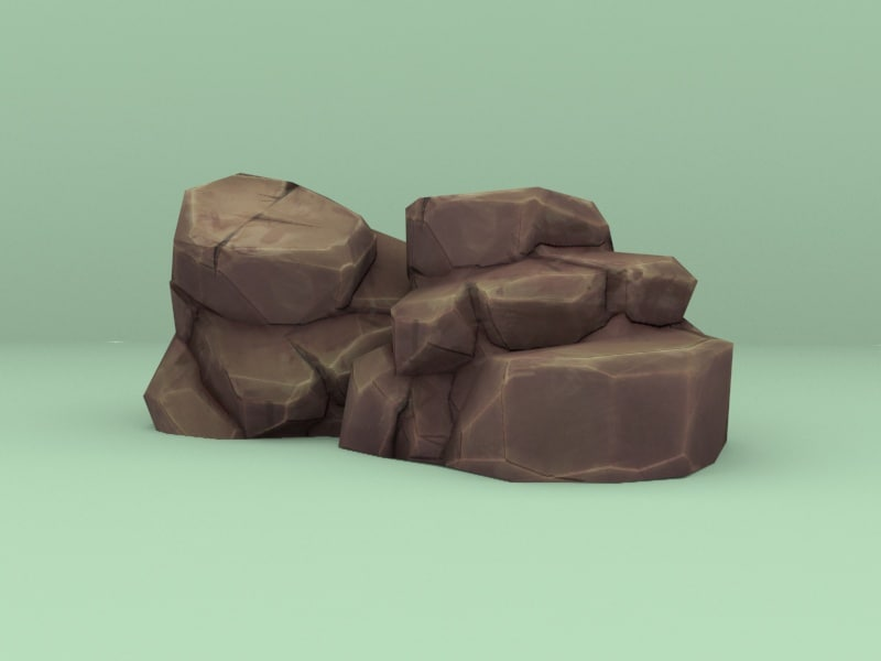 3D cartoon rocks