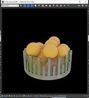 fruit plate 3D model