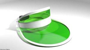eyeshade green hat 3D model