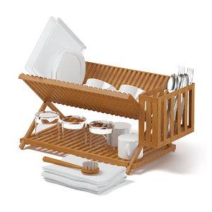 3D dish dryer