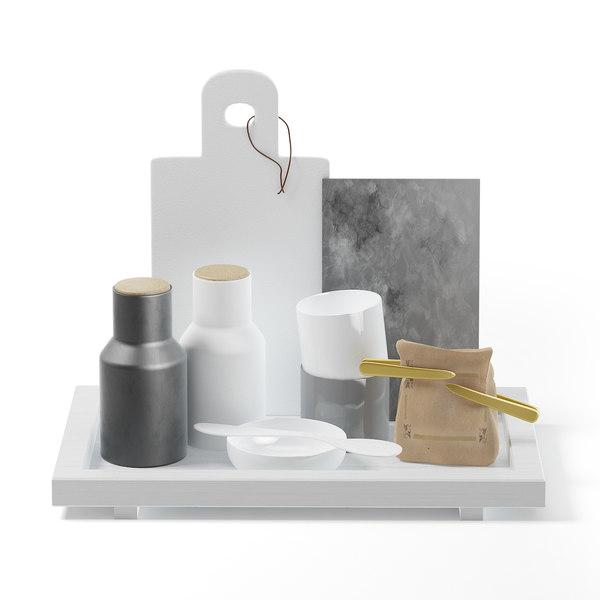 kitchen utensils tray 3D