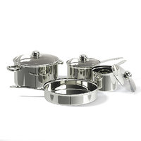 3D metal pots set