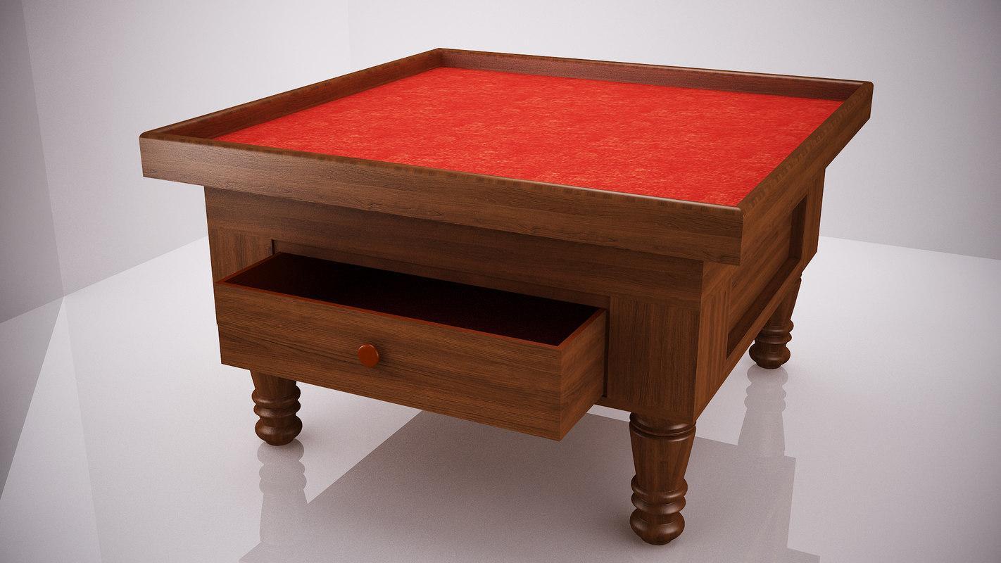 table square vintage 3D model