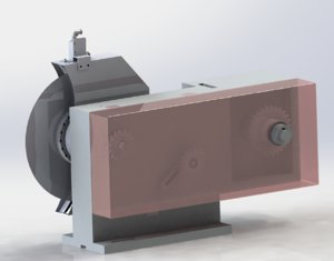 3D model rotary cutting mechanism