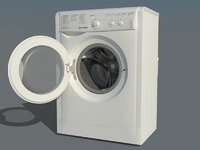 washing indesit iwsc 51052 3D model