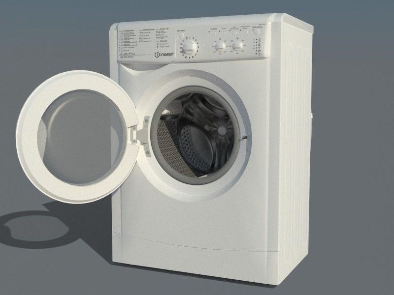 washing indesit iwsc 51052 3D model
