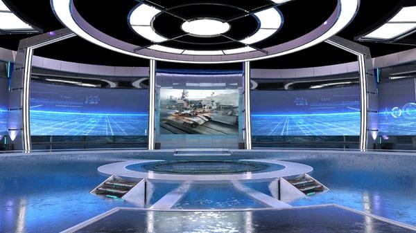 3D virtual set studios