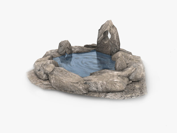 3D fantasy natural spring