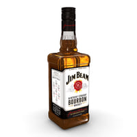 3D jim beam 70cl bottle