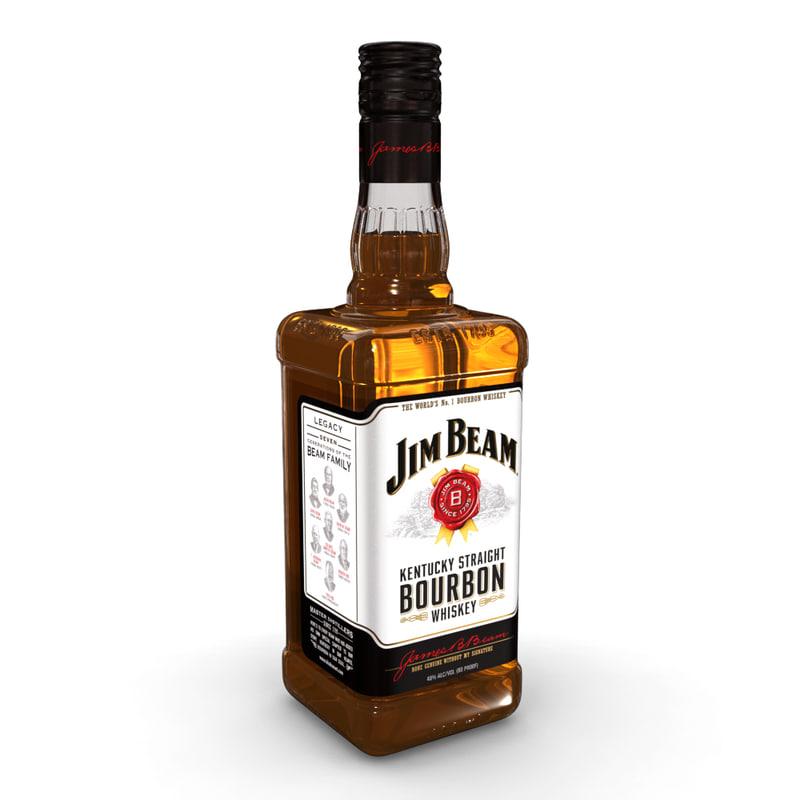 3D jim beam 70cl bottle