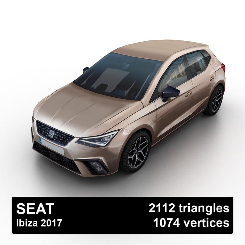 2017 seat ibiza 3D