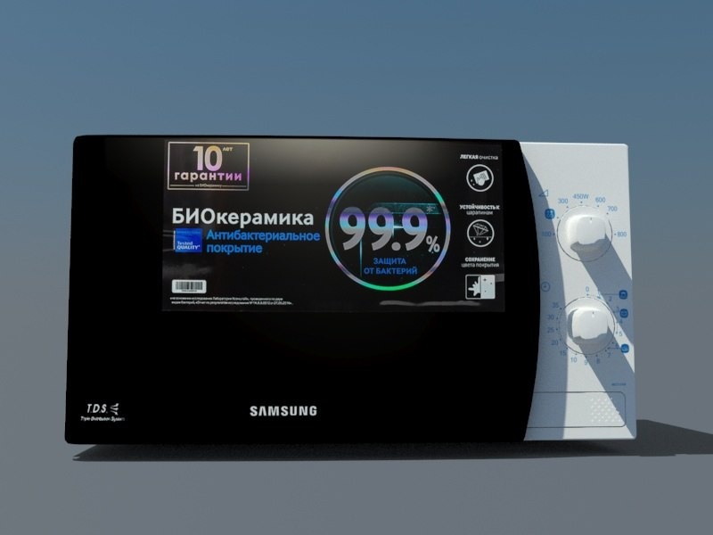 3D microwave oven samsung model