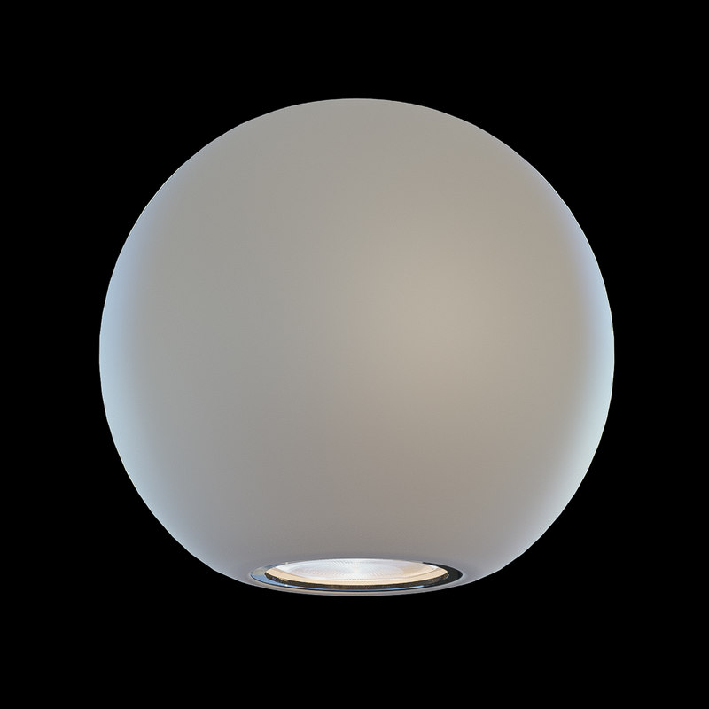 3D model wall light