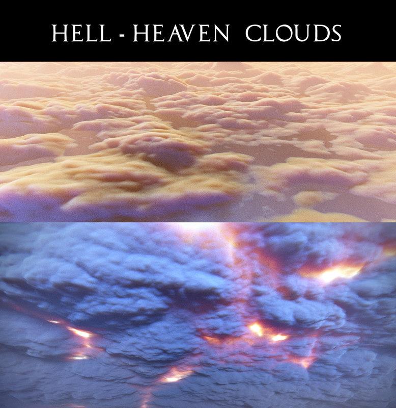3D clouds scene volumetric