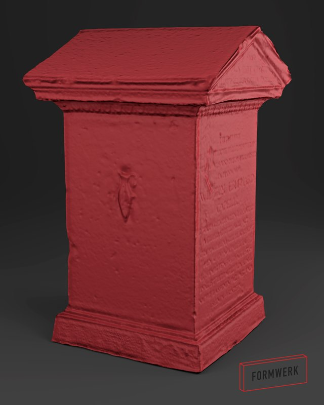 3D scanned tombstone - 01 model