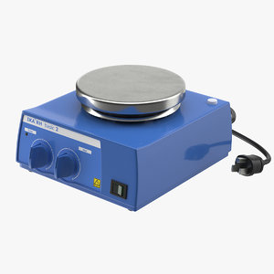 realistic laboratory magnetic mixer 3D model