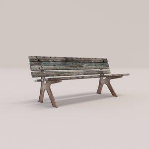 3D bench wood seat
