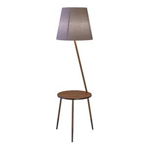 3D floor lamp light lama model